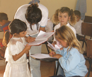 Children at the Suzanna Wesley School.