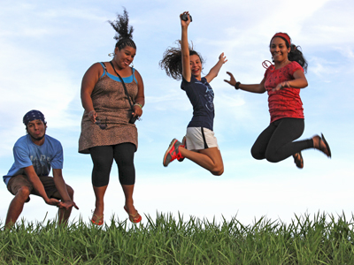 Youth leaders having in fun in Paraguay