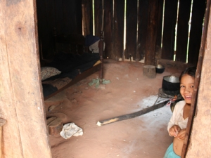 Living quarters of an average family in the Paraguay interior